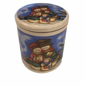 Snowmen Family Holiday Canister